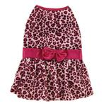 View Image 2 of Vibrant Leopard Dog Dress - Raspberry