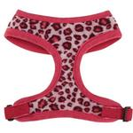 View Image 2 of Vibrant Leopard Dog Harness - Raspberry