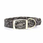 View Image 2 of East Side Collection West End Dog Collar - Silver Python