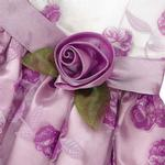 View Image 3 of Elegance Rosette Dog Dress by East Side Collection - Purple