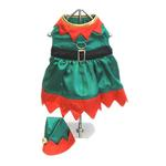 View Image 1 of Elf Girl Dog Harness Dress w/ Hat