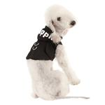 View Image 1 of Elite Hooded Mesh Dog Harness by Puppia - Black
