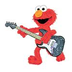 Elmo Bedroom Decor - Rock & Roll Giant Wall Decal