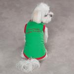 View Image 1 of Embroidered Santa Pullover Tee 'Dear Santa, Define Naughty' - Green