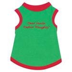 View Image 3 of Embroidered Santa Pullover Tee 'Dear Santa, Define Naughty' - Green