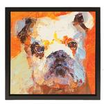 View Image 1 of English Bulldog Oil Painting