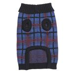 View Image 2 of English Plaid Sweater by Zack & Zoey - Navy