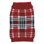 View Image 3 of English Plaid Sweater by Zack & Zoey - Red