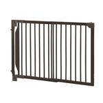 View Image 2 of Expandable Walk-Thru Pet Gate - Coffee Brown
