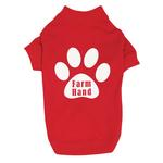 View Image 1 of Farm Hand Dog T-Shirt by Zack & Zoey - Red