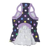 View Image 2 of Fiesta Dot Dog Dress by Puppia - Violet