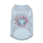 View Image 1 of Fireworks Rhinestone Dog Tank Top - Baby Blue