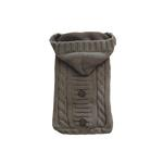View Image 1 of Fisherman Cable Knit Hooded Sweater by NY Dog - Gray