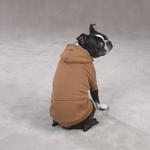 View Image 2 of Fleece Lined Dog Hoodie by Zack & Zoey - Brown