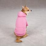 View Image 2 of Fleece Lined Dog Hoodie by Zack & Zoey - Pink