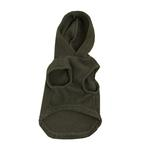 View Image 2 of Fleece Vest Hoodie Dog Harness by Gooby - Sage Brown