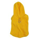 View Image 1 of Fleece Vest Hoodie Dog Harness by Gooby - Yellow