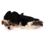 Fleece Vest Hoodie Dog Harness by Gooby - Black