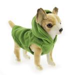 View Image 5 of Fleece Vest Hoodie Dog Harness by Gooby - Green