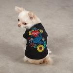 View Image 1 of Flower Child Dog Tank Top - Black