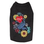 View Image 2 of Flower Child Dog Tank Top - Black