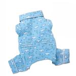 View Image 2 of Fluffy Clouds and Stars Dog Pajamas by Klippo - Light Blue