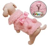 View Image 1 of Fluffy and Elegant Pink Dog Coat by Klippo