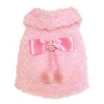 View Image 2 of Fluffy and Elegant Pink Dog Coat by Klippo