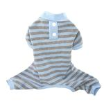 View Image 1 of FouFou Classic Striped Dog Pajamas - Blue