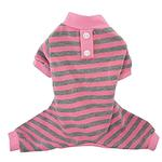 View Image 1 of FouFou Classic Striped Dog Pajamas - Pink