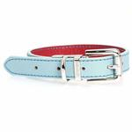 View Image 4 of FouFou Reversible Dog Collar - Blue/Red