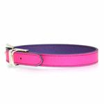 View Image 3 of FouFou Reversible Dog Collar - Purple/Fuchsia