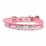 View Image 1 of Foxy Glitz Dog Collar with Letter Strap - Pink