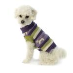 View Image 1 of Fritzy's Fair Isle Dog Sweater - Dusty Grape
