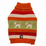 View Image 3 of Fritzy's Fair Isle Dog Sweater - Orange Spice