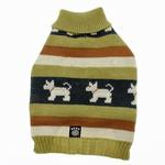 View Image 3 of Fritzy's Fair Isle Dog Sweater - Winter Pear