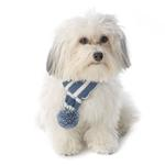 View Image 1 of Frosty's Snowflake Dog Scarf - Winter Blue