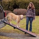 View Image 3 of Full Length Tri-Fold Pet Ramp - Chocolate/Black