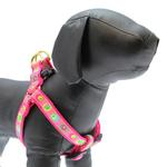 View Image 1 of Funky Pink Circles Dog Harness by Up Country