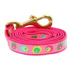 View Image 1 of Funky Pink Circles Dog Leash by Up Country
