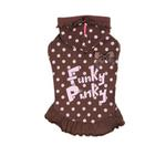 View Image 1 of Funky Pinky Dog Hoodie by Pinkaholic - Brown