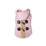 View Image 1 of Furry Toggle Dog Coat by Dogo - Pink