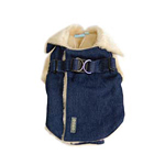 View Image 1 of Furry Winter Harness Coat by Dogo - Denim