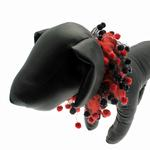 View Image 1 of Red & Black Party Dog Neck Scrunchy