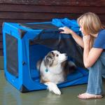View Image 1 of Generation Soft Dog Crates - Blue Sky