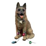 View Image 1 of German Shepherd with Lights Christmas Ornament