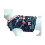 View Image 3 of Girlie Girl Denim Dog Vest w/ Leash