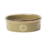 View Image 1 of Glitzy Swirls Dog Bowl - Moss Green