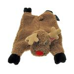 View Image 1 of GoDog Reindeer Flatty Dog Toy with Chew Guard