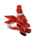 View Image 1 of GoDog Santa Dragon Dog Toy with Chew Guard